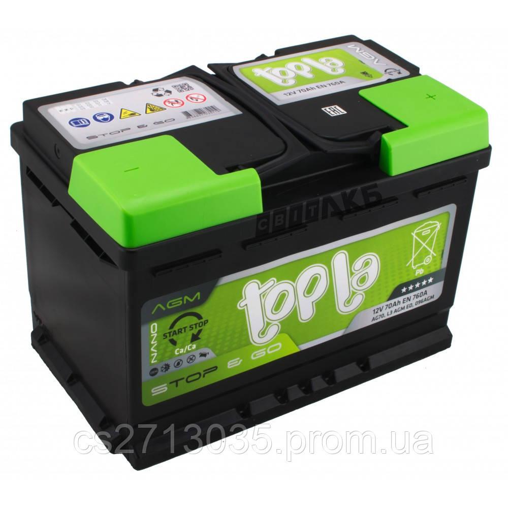Автомобильный аккумулятор Topla AGM 70 Ач 760 А (0) R+