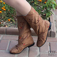 Сапожки женские коричневые.  Арт-0341, фото 1