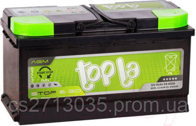 Автомобильный аккумулятор Topla AGM 95 Ач 850 А (0) R+