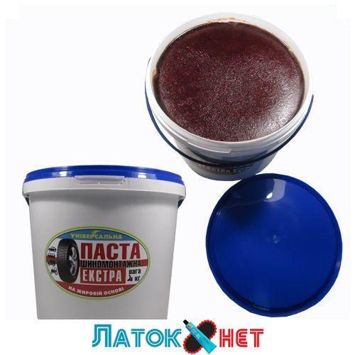Монтажная паста Экстра красная с герметиком 4 кг Украина