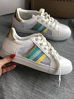 Нежные, полосатые кеды, кроссовки, туфли  39 размер 25 см