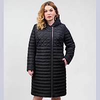 Демисезонная женская куртка черная (50-58р.)