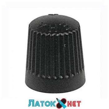 Колпачок пластиковый для вентилей черный