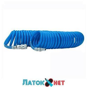 Шланг воздушный ПВХ спиральный с быстроразъемным соединением 6,5x10мм, 20м PT-1713 Intertool