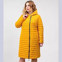 Демисезонная женская куртка желтая (50-58р.)