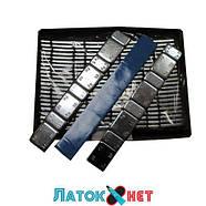 Груз самоклеящийся низкий 4 х 10 г + 4 х 5 г металл голубая лента, фото 2