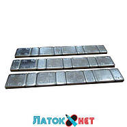Груз самоклеящийся низкий 4 х 10 г + 4 х 5 г металл голубая лента, фото 3