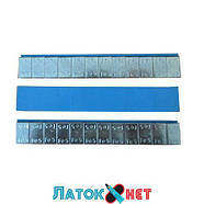Груз клеящийся низкий голубая лента 12х5г металл Польша, фото 2