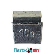 Грузик балансировочный для легкосплавных дисков Полтава 10 гр 100 шт/уп, фото 2