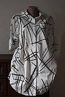 Платье-рубашка абстракция