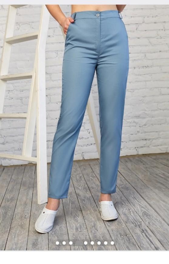 Жіночі  однотонні  медичні штани (коттон) Черрі в кольорах