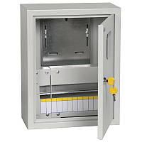 Щит для 1ф счетчик и 12 автоматов ЩУРн-1/12з-0 У2 IP54 ИЕК, MKM22-N-12-54-Z, навесной, металлический