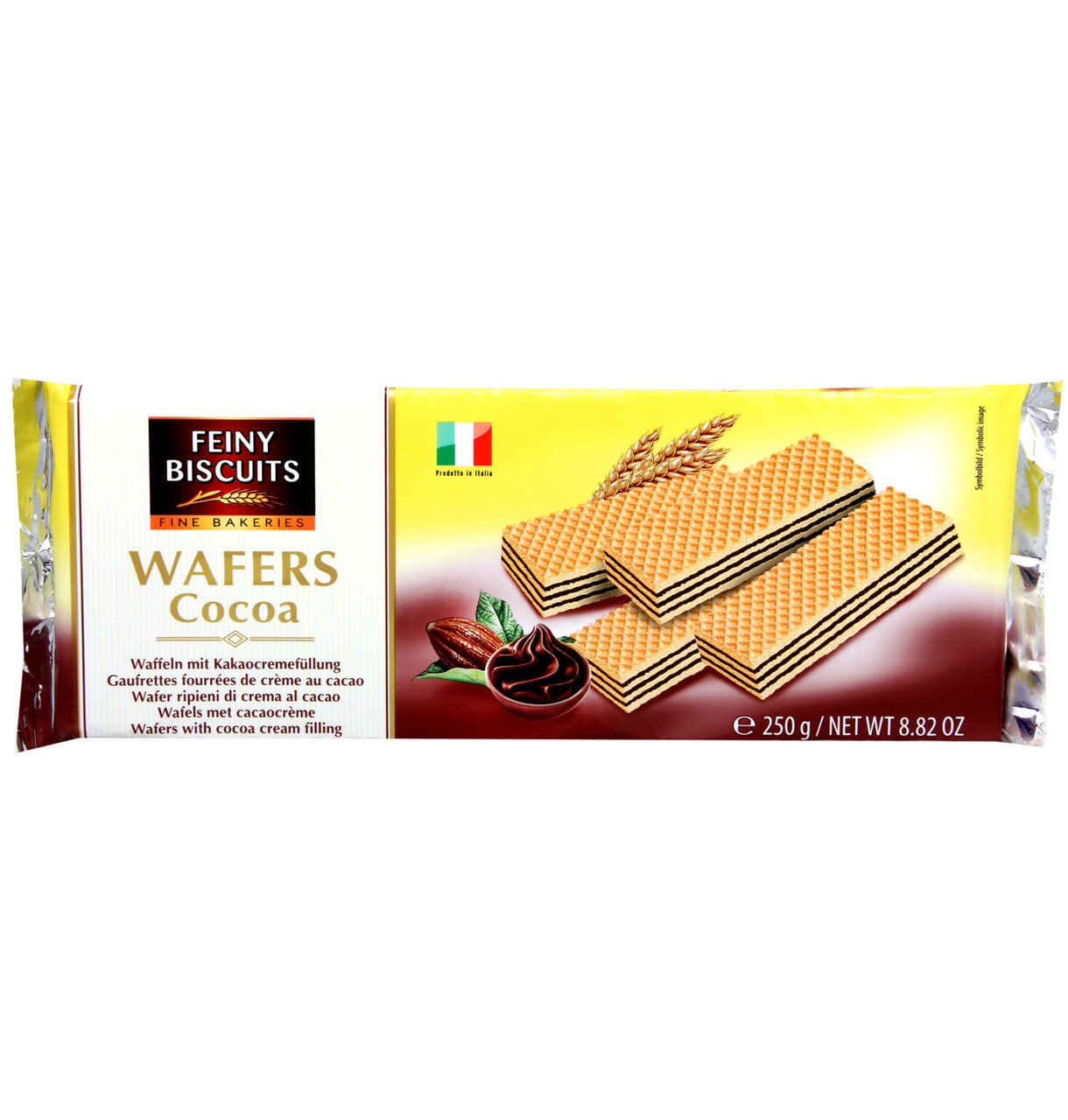 Feiny Biscuits Wafers Cocoa, 250 г