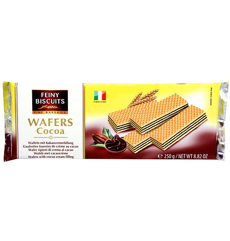 Feiny Biscuits Wafers Cocoa, 250 г, фото 2