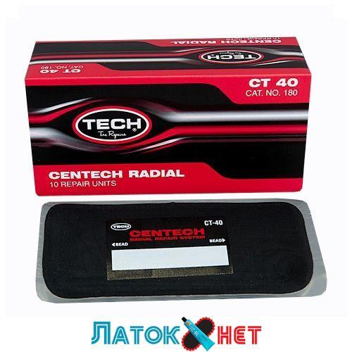 Ремонтный радиальный пластырь Ст 40 100 х 200 мм Tech США