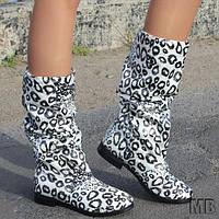 Сапожки женские леопардовые.  Арт-0349, фото 1