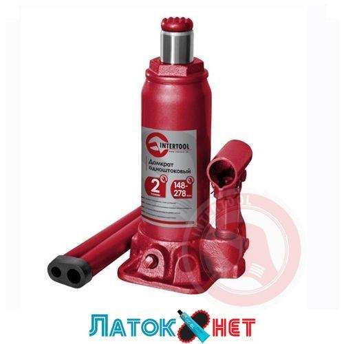 Домкрат бутылочный 2т GT0021 Intertool одноштоковый
