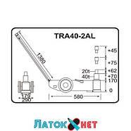 Домкрат пневмогидравлический подкатной 40т 20т TRA40-2AL Torin, фото 2