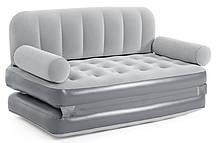 Надувной диван раскладной с встроенным электронасосом 188x152x64 см
