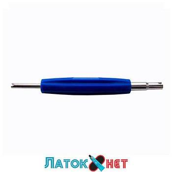 Отвертка для золотников двухсторонняя синяя VT01-D