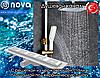 Душевой канал с решеткой из нержавеющей стали nova