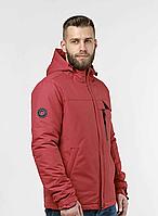 Демисезонная мужская куртка красная (46-54рр)
