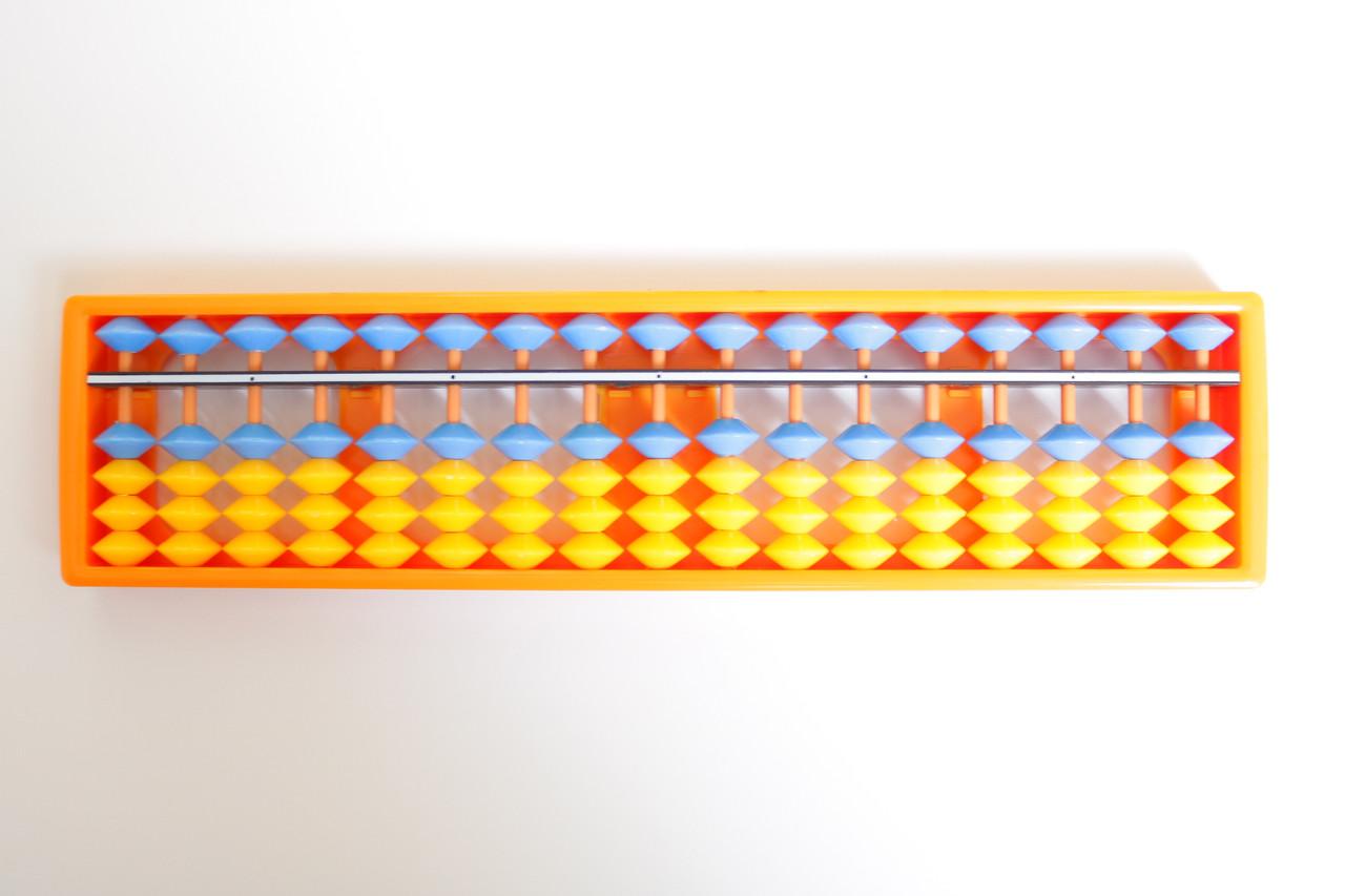 Счеты абакус соробан  Флаг Украины ментальная арифметика 17 рядов Game toys