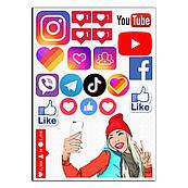 Социальные сети 1 вафельная картинка