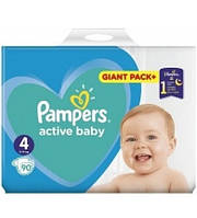 Подгузники Pampers Active Baby 4 Maxi (9-14 кг) 90 шт Giant pack