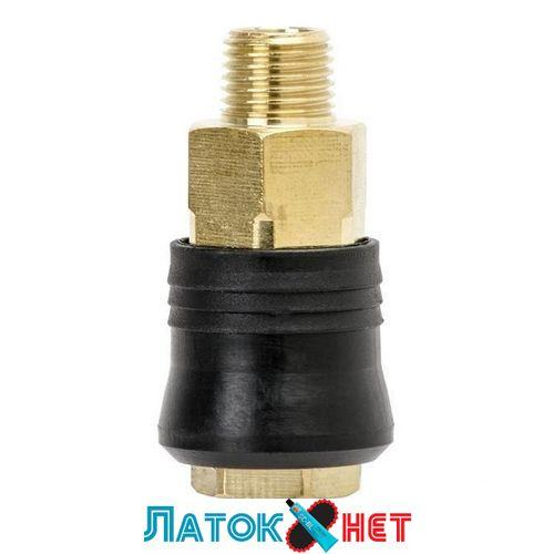Быстроразъемное соединение с наружной резьбой 1/4 латунь PT-1815 Intertool