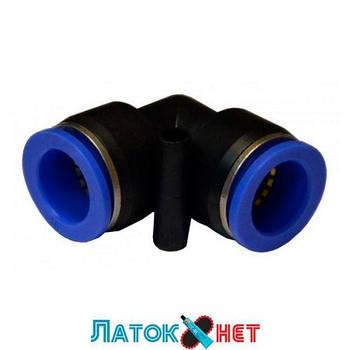 Соединитель угловой для пластиковых трубок 12 мм SPV12 Airkraft