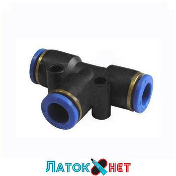 Соединитель тройной для пластиковых трубок 6 мм PUT 06 Sumake