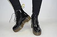 Ботинки женские Marcco 20520 чёрные лаковая кожа, фото 1