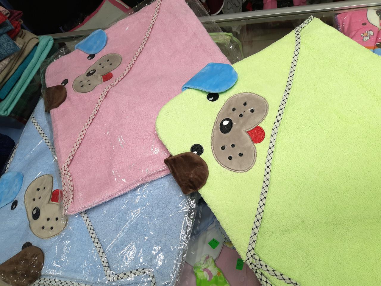 Полотенце детское махровое с капюшоном (пл.450г/м2)