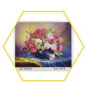 "Набор «Рисование по номерам» картина по номерам KTL 1875 ""Цветы""  / Рисование красками"