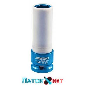 Головка в пластике 1/2 17 мм ударная длинная для шиномонтажа S03AD4317 Jonnesway