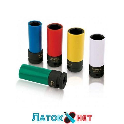 Головка в пластике 1/2 22 мм ударная длинная для шиномонтажа KABC1622 Toptul