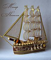 """Корабль из конфет """"Всё в шоколаде"""""""