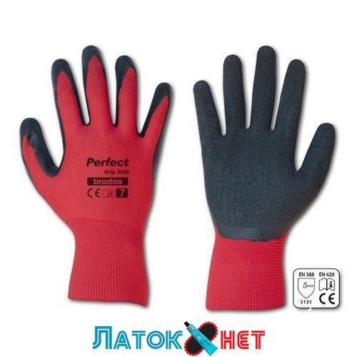 Перчатки защитные Perfect Grip Red латекс размер 10 RWPGRD10 Bradas