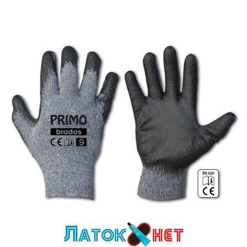 Перчатки защитные Primo латекс размер 9 RWPR9 Bradas