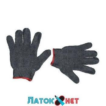 Перчатка хлопчатобумажная трикотаж 24,5 см серая SP-0103 Intertool