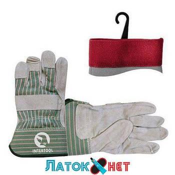 Перчатка замшевая 26,5 см манжет обрезиненный SP-0151 Intertool