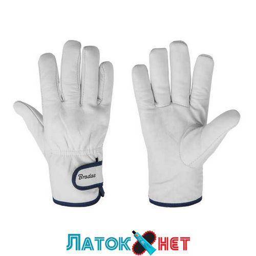 Защитные перчатки из козьей кожи со светлой подкладкой Whitebird RWWB95 Bradas