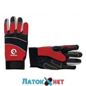 Перчатка со вставками спандекса и неопрена манжет на липучке 24,5 см SP-0141 Intertool