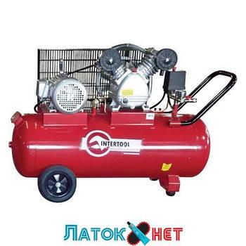 Компрессор 100л 8атм 500л/мин 380В PT-0013 Intertool 3кВт 4HP 2 цилиндра