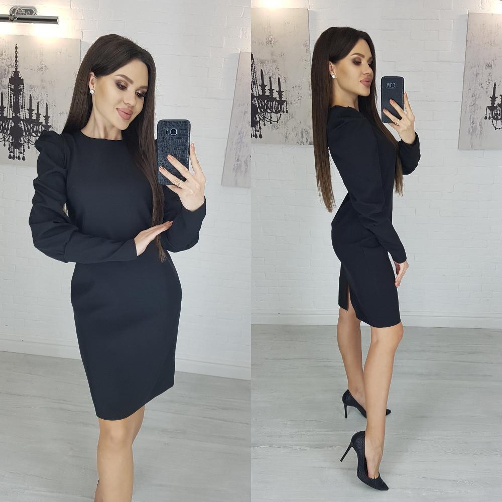 Женское платье модное горчица