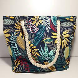 Пляжная сумка текстильная летняя  яркая абстракция