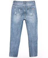3619 New jeans мом с царапками синий весенний коттоновый (25-30, 6 ед.), фото 1