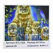 """Набор «Рисование по номерам» картина по номерам KTL 1328  """"Совы""""  / Рисование красками"""