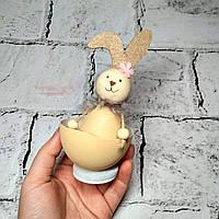 Декор пасхальный, фигурка Пасхальное яйцо, Зайчик в скорлупе